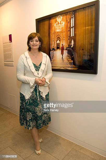 Cherie Booth QC during The Children's Society Exhibition 'When I Grow Up' Private View at The Hospital in London Great Britain