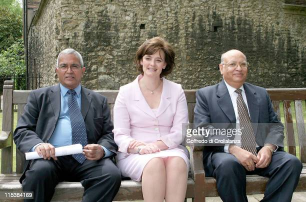 Cherie Booth with Lord Chief Justice Lord Woolf the State Governor of Uttaranchal and Trustee Lord Dholakia of Waltham Brooks OBE DL deputy leader of...