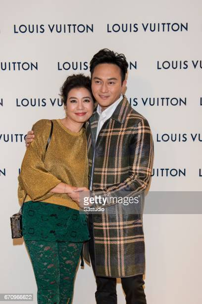 Cherie Chung and Chilam Cheung attend the opening ceremony of Louis Vuitton flagship store on April 20 2017 in Hong Kong Hong Kong