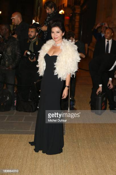 Cherie Chung arrives at a Ralph Lauren Collection Show and private dinner at Les BeauxArts de Paris on October 9 2013 in Paris France On this...