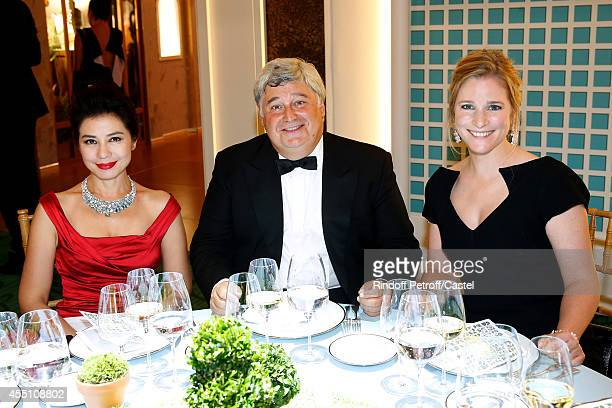 Cherie Chung Thierry Fritsch Natacha Regnier attend the 27th 'Biennale des Antiquaires' Pre Opening at Le Grand Palais on September 9 2014 in Paris...
