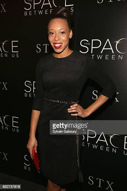 """Cherie Corinne Rice attends STX Entertainment with The Cinema Society Host a Screening of """"The Space Between Us"""" on January 25, 2017 in New York City."""