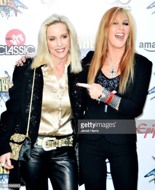Cherie Currie and Lita Ford arrive at the 2014 Revolver Golden Gods Awards at Club Nokia on April 23 2014 in Los Angeles California