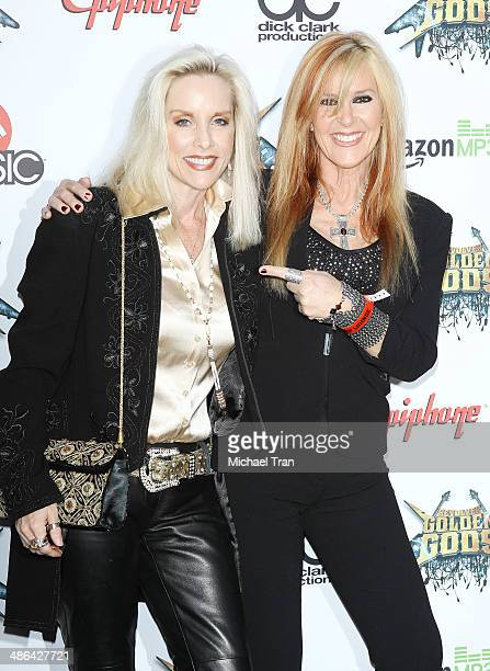Cherie Currie and Lita Ford arrive at the 6th Annual Revolver Golden Gods Award Show held at Club Nokia on April 23 2014 in Los Angeles California