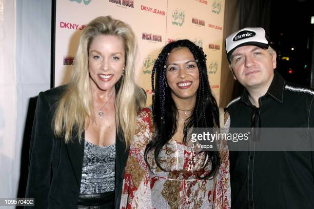Cherie Currie Annabella Lwin and Lee Gorman during DKNY Jeans Presents Mick Rock Live in LA Exhibit at the LoFi Gallery at LoFi in Los Angeles...