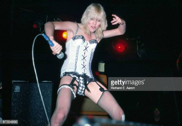 Cherie Currie from The Runaways performs live at CBGB's club in New York on August 02 1976