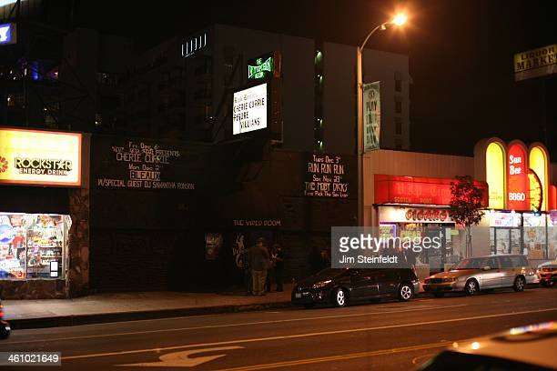Cherie Currie of the Rock band The Runaways featured on the Viper Room marquee in Los Angeles California on December 6 2013