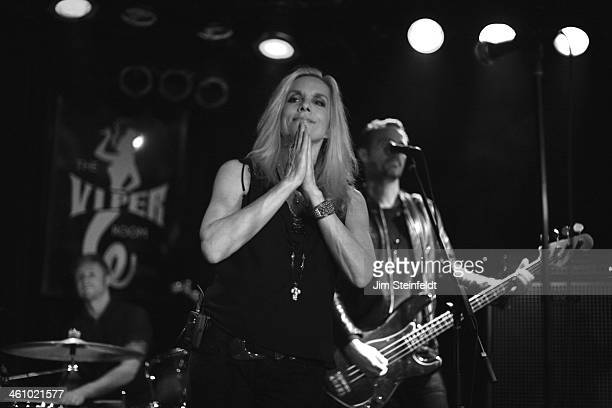 Cherie Currie of the Rock band The Runaways performs at the Viper Room in Los Angeles California on December 6 2013
