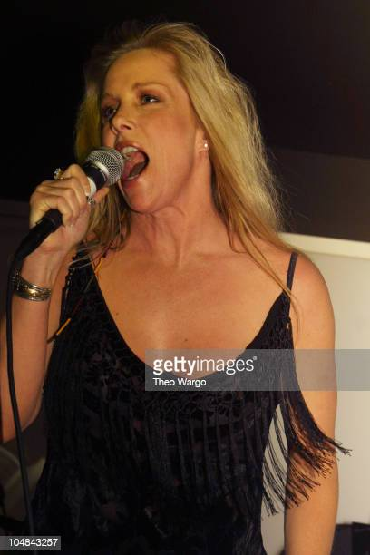 Cherie Currie of The Runaways during The Runaways Reunion Concert at Shattered 2001 at Spa in New York New York United States