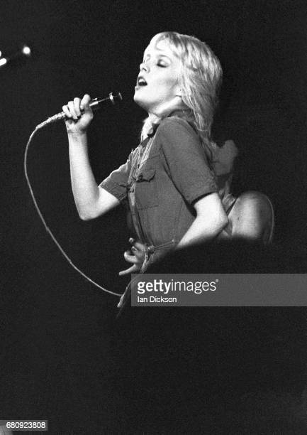 Cherie Currie of The Runaways performing on stage at The Roundhouse London 01 October 1976