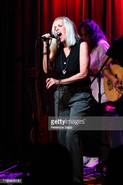 Cherie Currie performs at The Drop Cherie Currie Brie Darling at the GRAMMY Museum on August 01 2019 in Los Angeles California