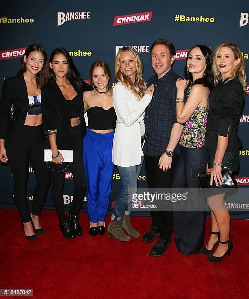 Cherie Jimenez Ryann Shane Tanya Clarke Ana Ayora creator/executive producer Jonathan Tropper Eliza Dushku and Jennifer Landon attend the premiere of...