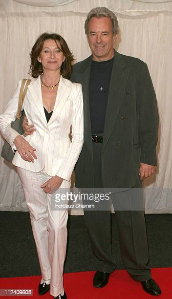 Cherie Lunghi and Jag Benedict during ITV's Hells Kitchen Arrivals at Brick Lane in London Great Britain