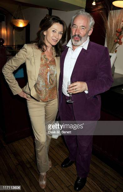 Cherie Lunghi and Simon Callow attend an after party following press night of Being Shakespeare at Walkers on June 22 2011 in London England