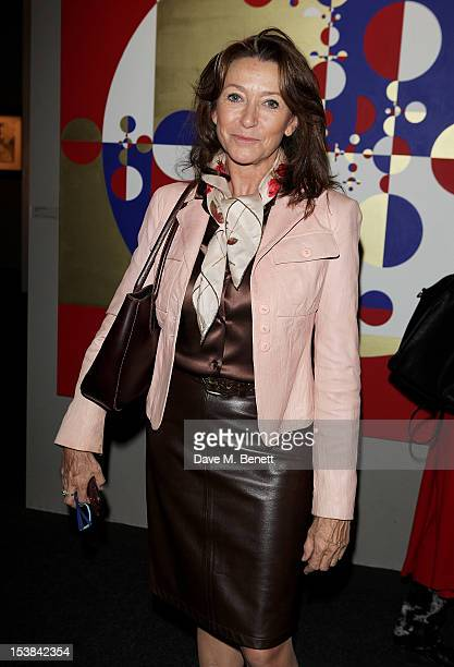 Cherie Lunghi attends a private preview of the PAD London 2012 Pavilion of Design in Berkeley Square Gardens on October 9 2012 in London England