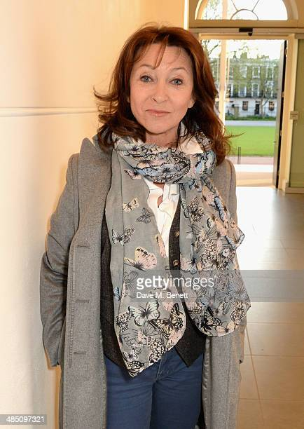 Cherie Lunghi attends a private view of The Motion Photography Prize exhibition at the Saatchi Gallery on April 16 2014 in London England