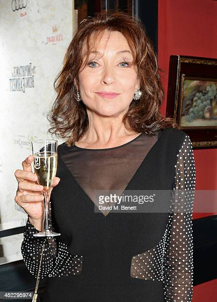 Cherie Lunghi attends an after party following the press night performance of The Importance of Being Earnest at L'Escargot on July 17 2014 in London...