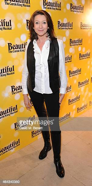 Cherie Lunghi attends an after party following the press night performance of 'Beautiful The Carole King Musical' playing at the Aldwych Theatre at...