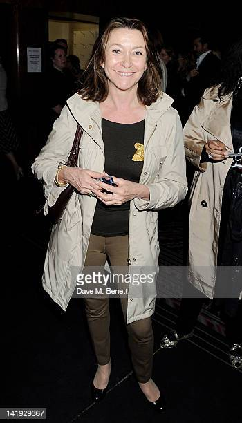 Cherie Lunghi attends an after party for 'A Memory A Monologue A Rant And A Prayer' a onenight only performance produced by Lauren Prakke and...