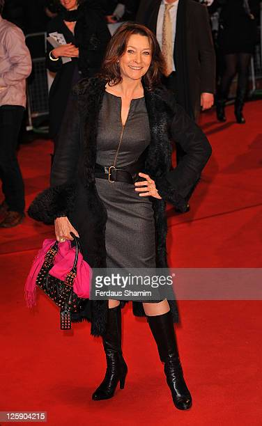 Cherie Lunghi attends the European premiere of Brighton Rock at Odeon West End on February 1 2011 in London England
