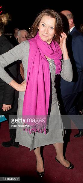 Cherie Lunghi attends the press night of 'Sweeney Todd The Demon Barber of Fleet Street' at Adelphi Theatre on March 20 2012 in London England