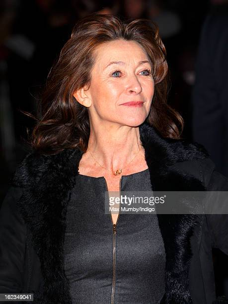 Cherie Lunghi attends the UK premiere of 'Arbitrage' at Odeon Odeon West End on February 21 2013 in London England
