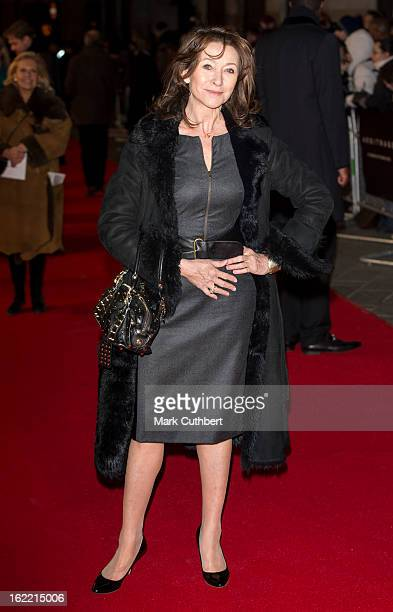 Cherie Lunghi attends the UK Premiere of 'Arbitrage' at Odeon West End on February 20 2013 in London England