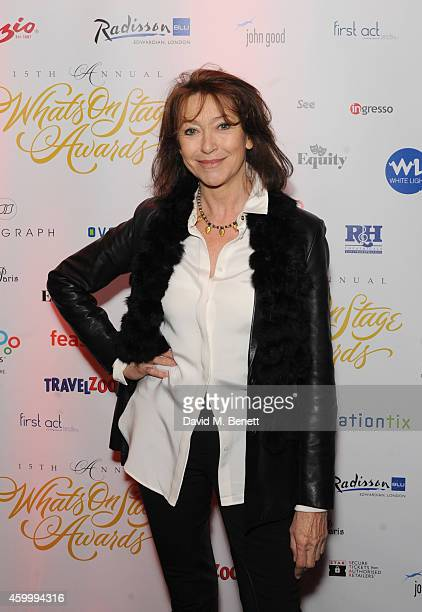 Cherie Lunghi attends the WhatsOnStage Awards Launch Party at Cafe de Paris on December 5 2014 in London England