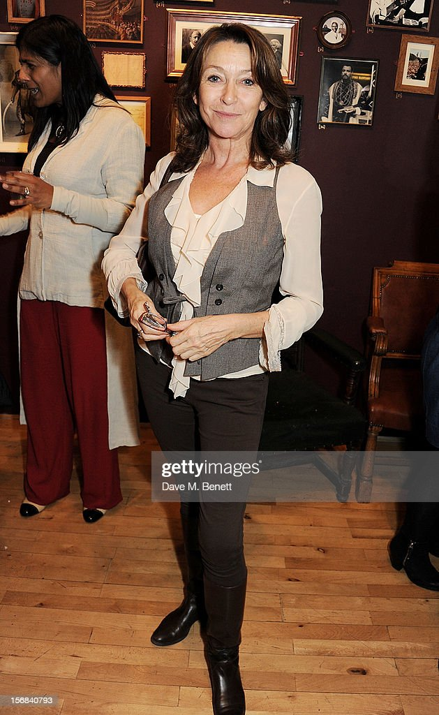 Cherie Lunghi attends Tricycle Theatre's 'Red Velvet: The Director's Party' on November 22, 2012 in London, England.