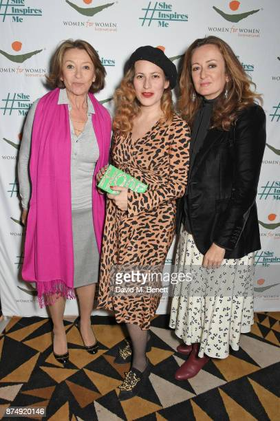 Cherie Lunghi Charlotte Dellal and Lucy Yeomans attend the Women for Women International's #SheInspiresMe lunch at Quaglino's on November 16 2017 in...