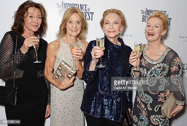 Cherie Lunghi Rosalind Ayres Sian Phillips and Christine Kavanagh attend an after party following the press night performance of 'The Importance of...