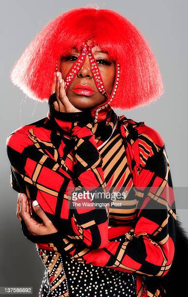 Cherie ScurryBurns wear a creation by Marco from Atlanta Georgia for a red themed photoshoot in Rockville Maryland on January 08 2012 Fashion...