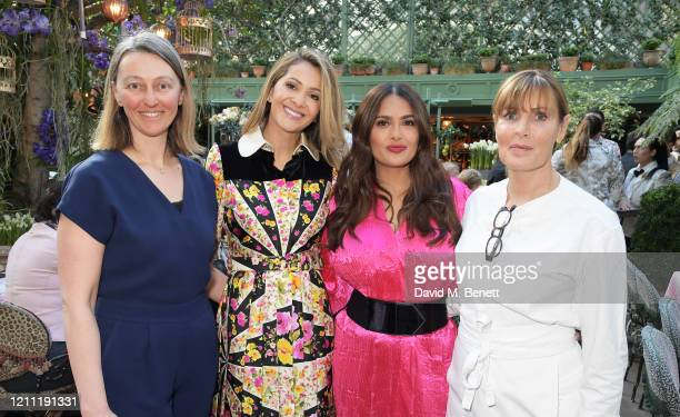Cherie Spriggs, Patricia Caring, Salma Hayek Pinault and Skye Gyngell attend International Women's Day for The Caring Foundation with Salma Hayek at...