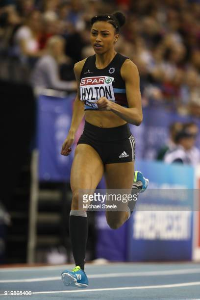 Cheriece Hylton of Blackheath and Bromley in the women's 200m heats during day two of the SPAR British Athletics Indoor Championships at Arena...
