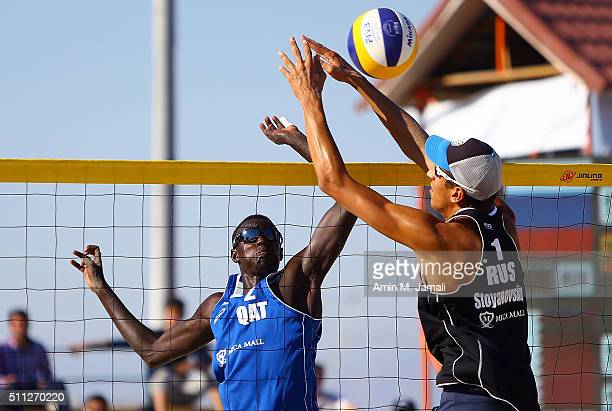 Cherif Younousse of Qatar in action during the gold medal match between Cherif Younousse and Jefferson Santos Pereira of Qatar against Oleg...