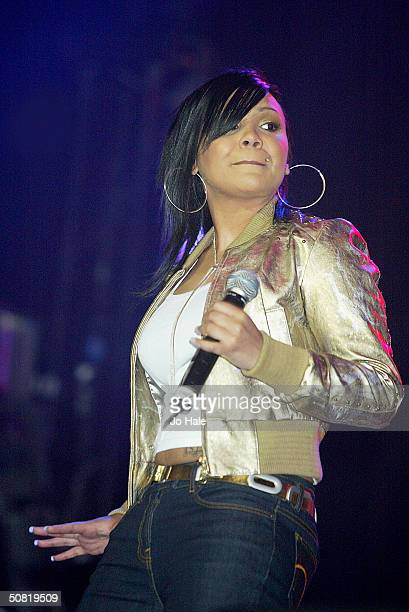 Cherise from Big Brovaz performs on stage during the first day of the The Prince's Trust Urban Music Festival at Earls Court on May 8 2004 in London...