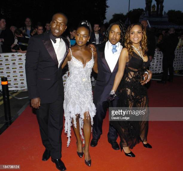 Cherise J Rock Nadia and Randy of Big Brovaz during MOBO 2006 Awards Arrivals at The Royal Albert Hall in London Great Britain