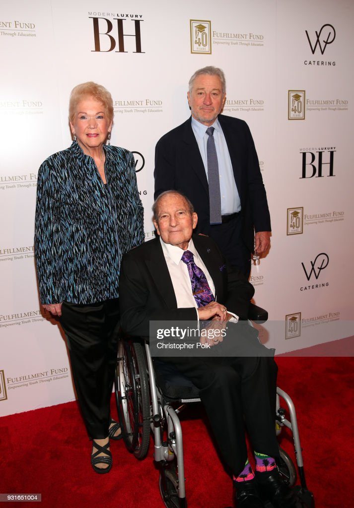 Cherna Gitnick, Dr. Gary Gitnick, and Robert De Niro attend A Legacy Of Changing Lives presented by the Fulfillment Fund at The Ray Dolby Ballroom at Hollywood & Highland Center on March 13, 2018 in Hollywood, California.