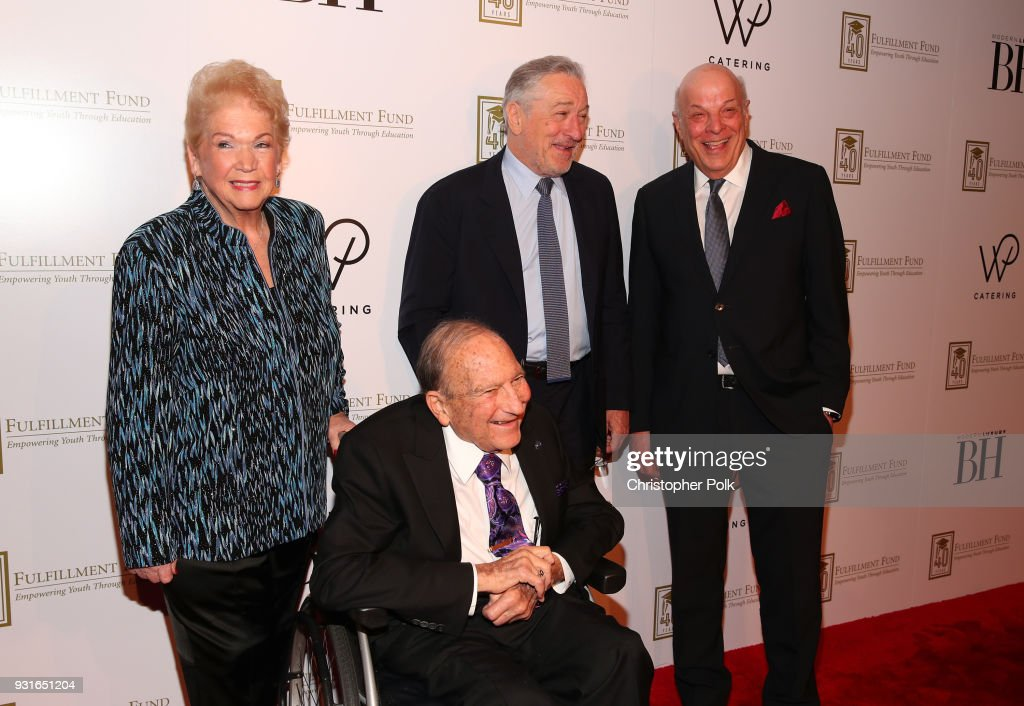 Cherna Gitnick, Dr. Gary Gitnick, Robert De Niro and Charles Fox attends A Legacy Of Changing Lives presented by the Fulfillment Fund at The Ray Dolby Ballroom at Hollywood & Highland Center on March 13, 2018 in Hollywood, California.