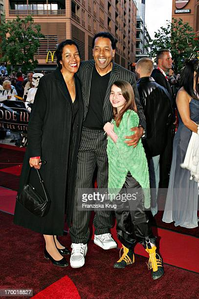 Cherno Jobatey With His Sister And His godson Antonia In The Germany premiere of Star Wars Episode Iii Revenge of the Sith the theater at Potsdamer...
