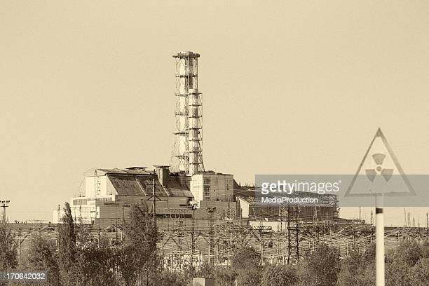 chernobyl nuclear reactor 4 - chernobyl disaster stock pictures, royalty-free photos & images