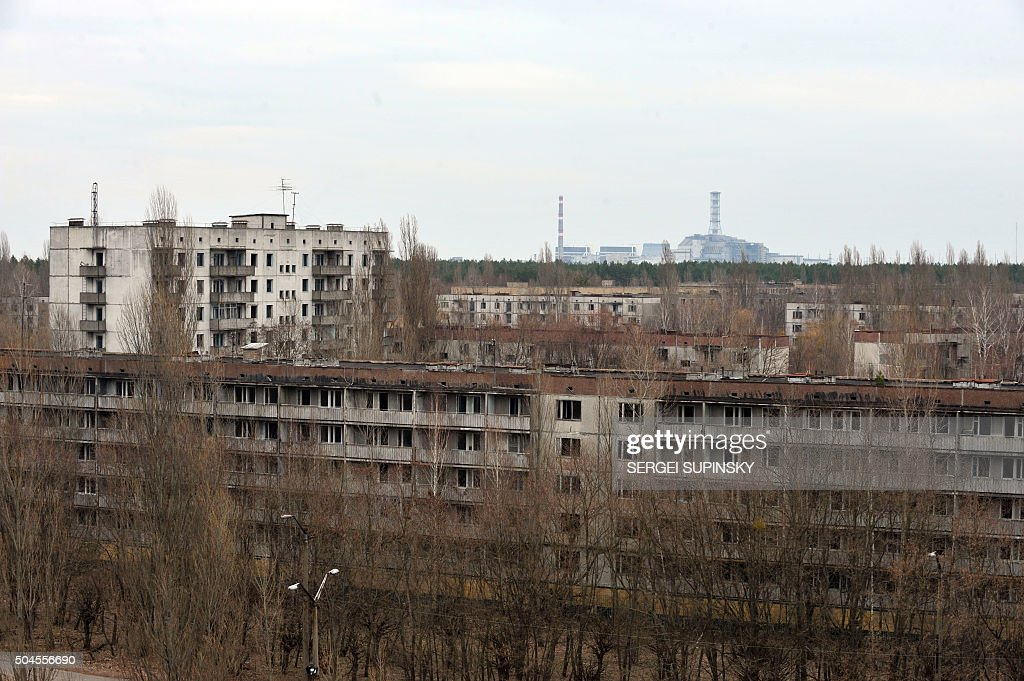 Chernobyl's nuclear power plant covered with