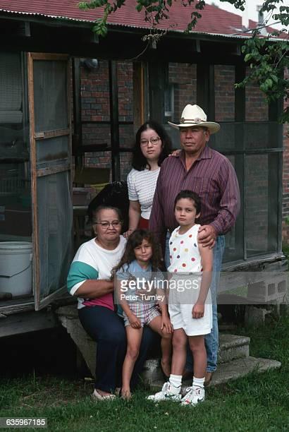 Cherokee medicine man and his family.