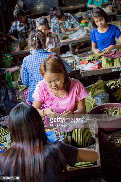 Cheroot factory in Bago, Myanmar