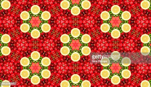Cherries and lemon kaleidoscope