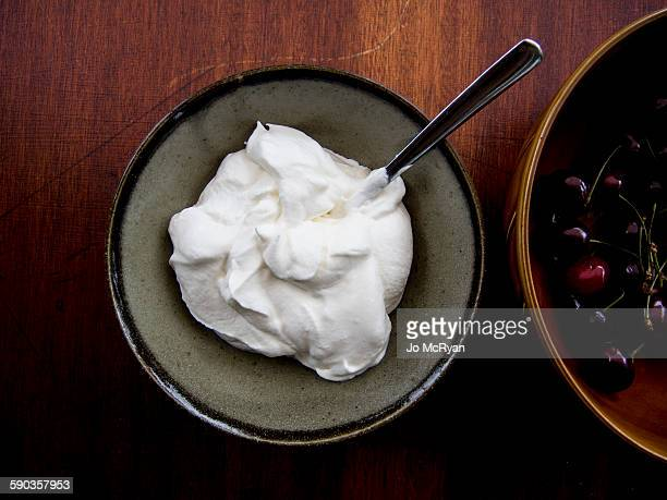 Cherries and Whipped cream