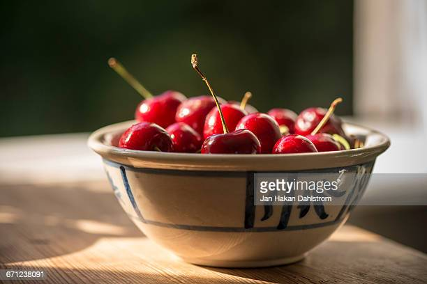 Cherries in small bowl