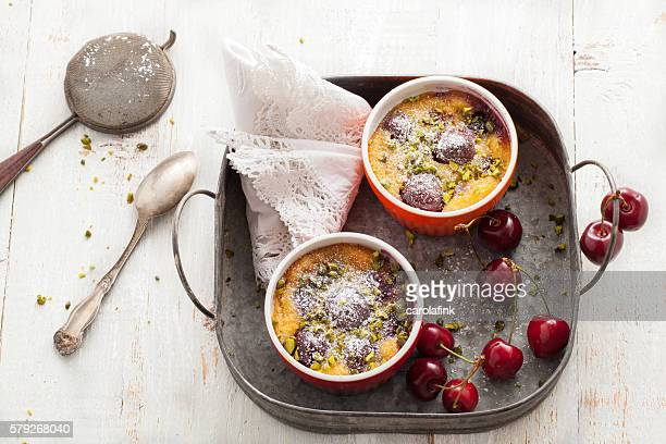 cherries soufflé - carolafink stock photos and pictures