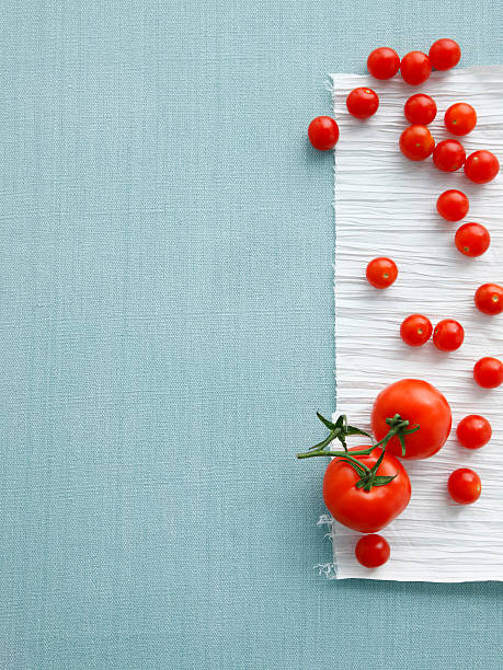 Cherry And Vine Tomatoes On Table Wall Art