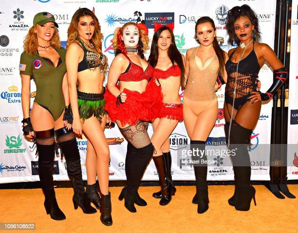 Cherry Bombs attend Tat2ween Opening Party on October 31 2018 in Las Vegas Nevada